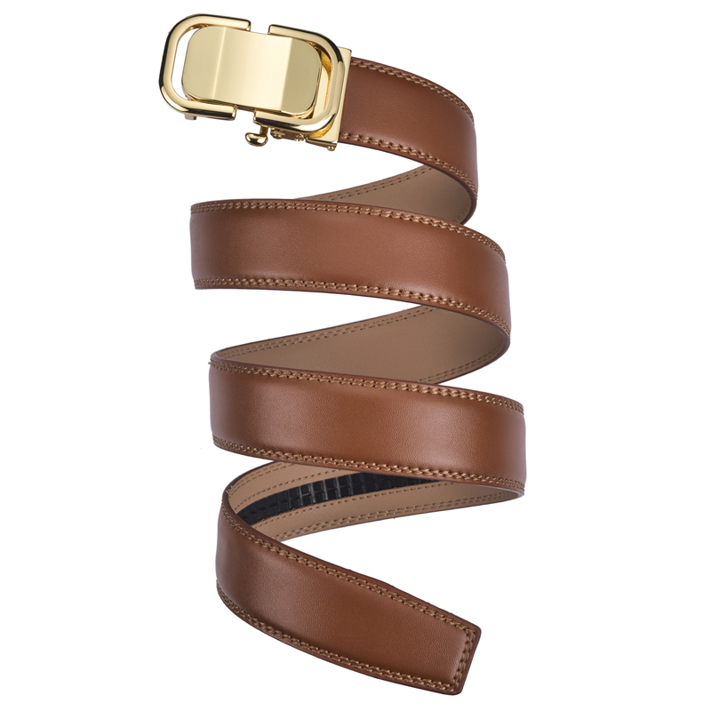 f452bdc9ad702 Plyesxale Black Brown Genuine Leather Belt 2018 Designer Belts Men High  Quality Gold Automatic Buckle Mens Belts Luxury B5 -in Men s Belts from  Apparel ...