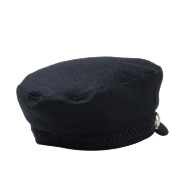 Street wear Solid Flat Warm Hat