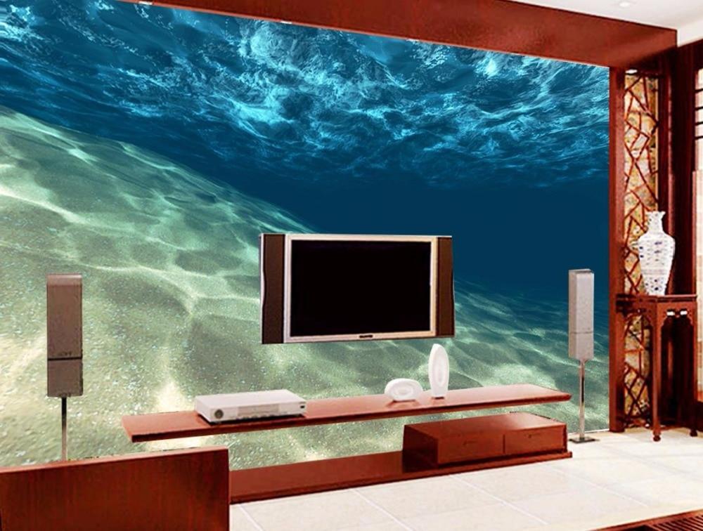 Blue water ripple 3D Mural Wallpaper Custom Background Wall 3D Stereoscopic Wallpaper Living room недорго, оригинальная цена