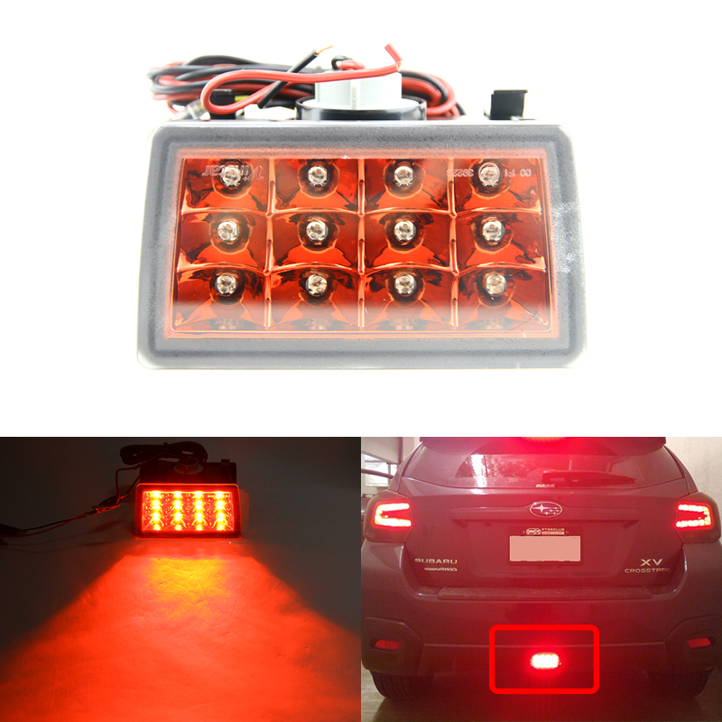 Red Lens F1 Style Led Rear Fog Brake Lights Kit Fit For Subaru WRX STi Impreza XV Crosstrek Car-Styling Brilliant Red Lights epman intercooler y pipe hose kit for subaru wrx sti gdb ggb 2 0 00 07 ver 7 9 3pcs ep sbt007