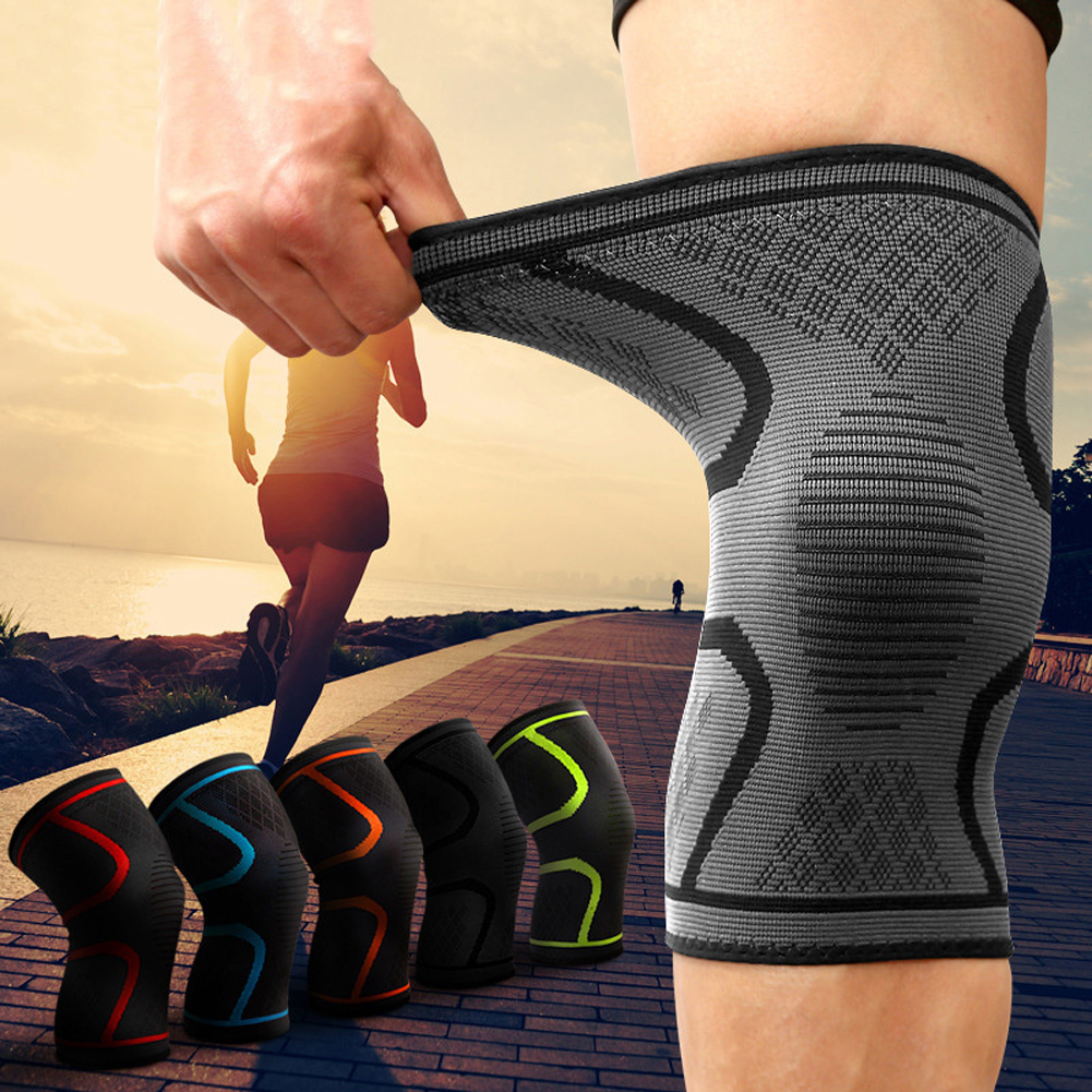 1PCS Fitness Running Cycling Knee Support Braces Elastic Nylon Sport Compression Volleyball Basketball Pad Sleeve for Men soccer