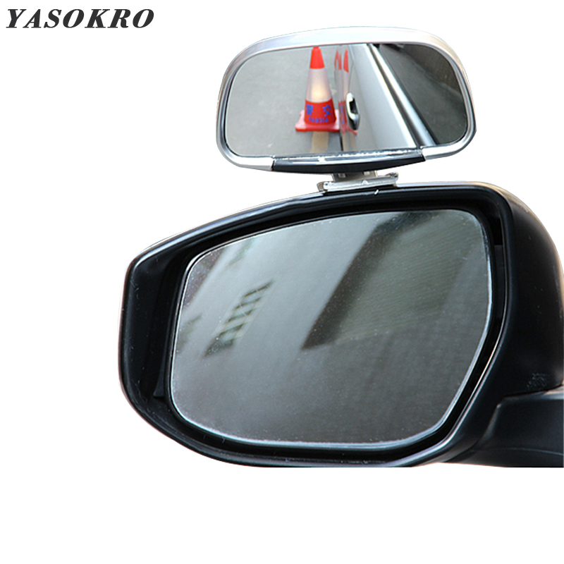 YASOKRO Car Blind Spot Mirror 360 Rotation Adjustable Rear View Mirror Wide Angle Convex Lens for Parking Auxiliary Mirror