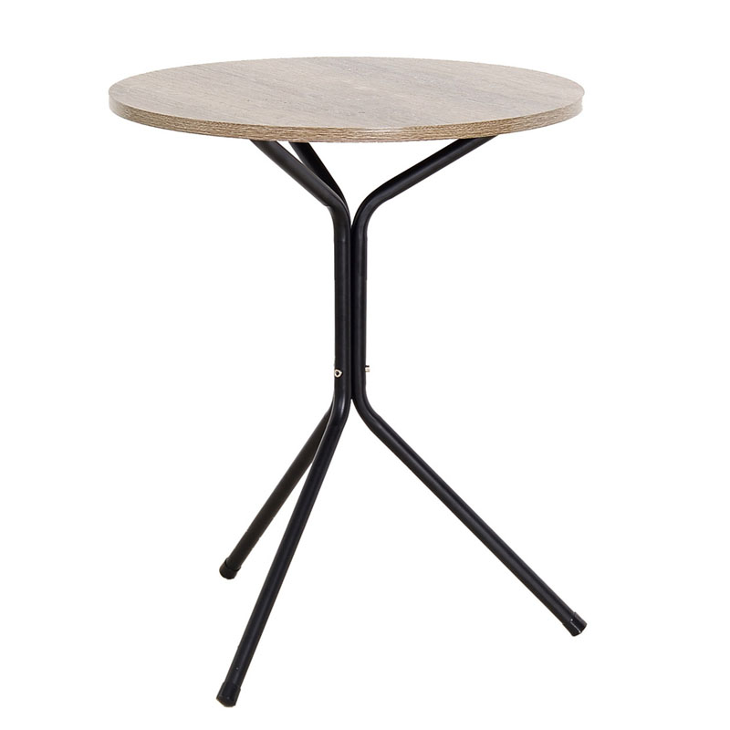 Metal simple small triangle round tea coffee table round table wood and iron table for sell панель для акустической обработки star sound triangle wood 3