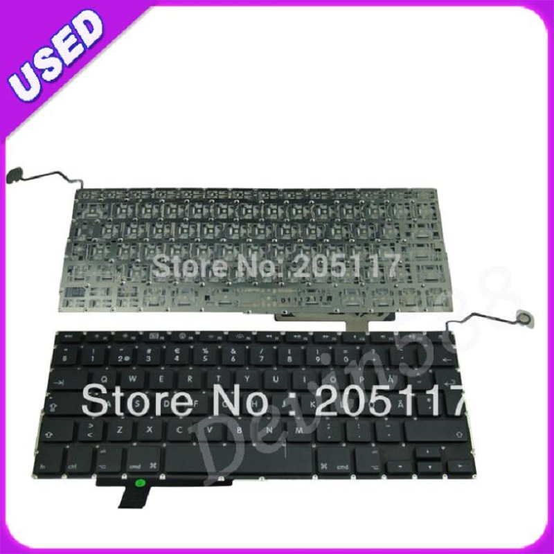 Laptop Swedish Keyboard For Apple MacBook Pro 17