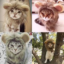 Cat Clothes Pet Costume Cosplay Lion Mane Wig Cap Hat for Halloween Xmas Fancy Dress with Ears Autumn Winter