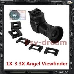 Mewa 1x-3.3x kąt widzenia Finder wizjer matówka do Nikon D800 D810 D800E D700 D4 D4S D3 5D2 5D3 70D 60D 700D 650D kamera PB409