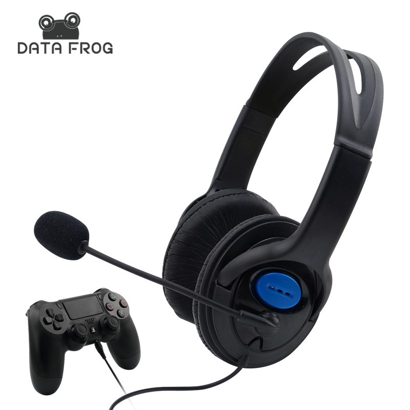 цена на Wired Gaming Headset Earphones for PS4 Headphones with Microphone Mic Stereo Supper Bass for Sony PS4 for PlayStation 4 Earphone