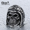 BEIER Dropshipping Wholesale 316L Stainless Steel Jewelry Skull Astronaut Punk Man`s Ring BR8-395