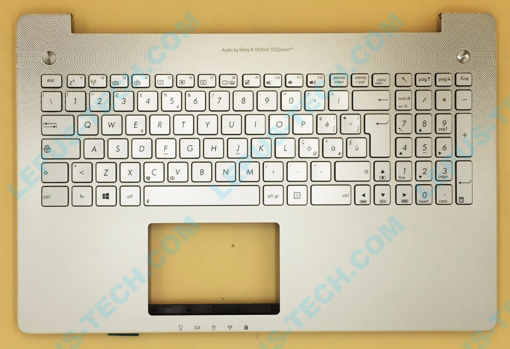 IT Italian backlight palmrest top case Keyboard for ASUS N550 N550JV N550JK silver color