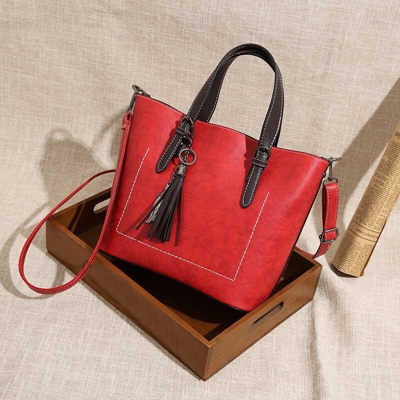 1 Pcs Women Shoulder Crossbody Bag PU Leather Zipper Vintage for Travel Money Mobile Phone WML99