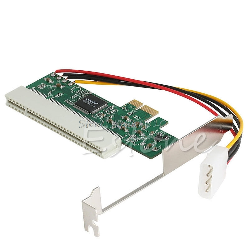 PCI-Express PCI-E To PCI Bus Riser Card High Efficiency Adapter Converter Z09 Drop ship pci e 1x to 16x powered pci express extender riser adapter card flexible cable z09 drop ship