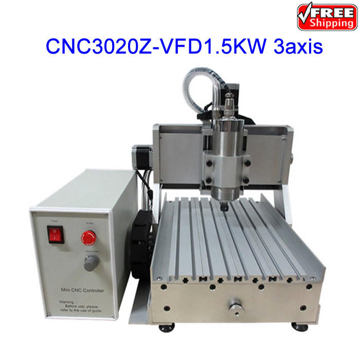 Free shipping! 3axis CNC Router LY CNC3020Z-VFD1.5KW Engraving Machine ,cnc cutting machine,also have EU warehouse 3axis mini cnc router ly cnc3020z vfd1 5kw engraving machine with sink cnc cutting machine