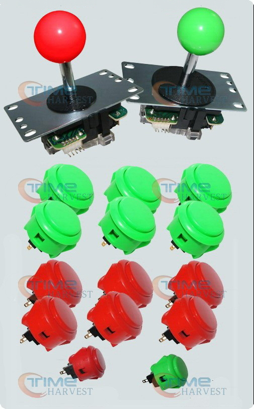 DIY Arcade parts Bundles/ control panel accessories package with original Sanwa button and joystick for arcade game machine new diy arcade sticks parts bundles game control panel accessories with original sanwa button and joystick for build game sticks
