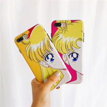 Cyato Lovely Sailor Moon Beauty girl Case For iphone 7 Cute Cartoon Anime Glossy Cases X 8 6s 6 plus Cover Capa