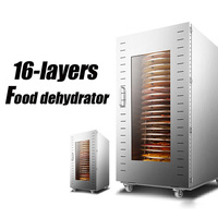 16 layer Commercial Food Dehydrator Stainless Steel Dried Fruit Machine Meat Dryer Food Dehydrated Machine 1500w 1pc