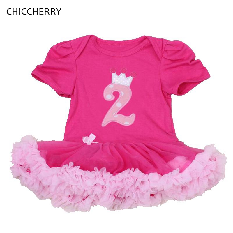 2 Years Birthday Dress One Piece Lace Petti Rompers 2017 Baby Girl Clothes Jurken Toddler Birthday Tutu Outfits Infant Clothing pink 1st birthday outfits for girls newborn infant lace tutu dress romper set 2017 vestido infantil toddler romper dress clothes