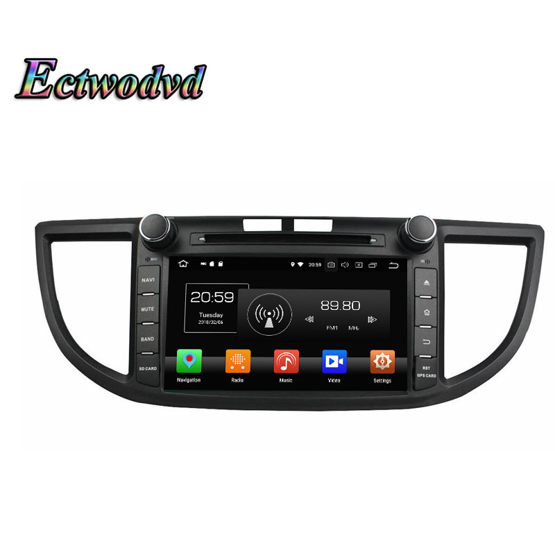 Ectwodvd Octa Core 4G Android 8.0/Quad Core Android 8.1 Car Multimedia DVD Player For Honda CRV 2012 2013 2014 Radio Tapes GPS автомобильная ключница taurus king 2012 crv 11