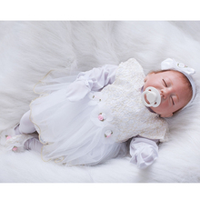 Super Sleeping Realistic Girl Baby Dolls 20 Inch Lifelike Reborn Babies Alive Toy With Rooted Moahir Kids Birthday Xmas Gift