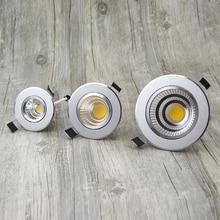 Светодиодный светильник с регулируемой яркостью COB потолочные точечные светильники 6 Вт 9 Вт 12 Вт 15 Вт Светодиодный светильник для спальни, кухни, внутреннего потолка, встраиваемые светильники