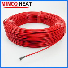 36K 48K Silicone Rubber or Fluoropolymer Coated Warmer Far Infrared Carbon Fiber Heating Cable