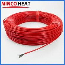 36K 48K kauczuk silikonowy lub powlekany fluoropolimerem cieplejszy kabel grzewczy z włókna węglowego dalekiej podczerwieni