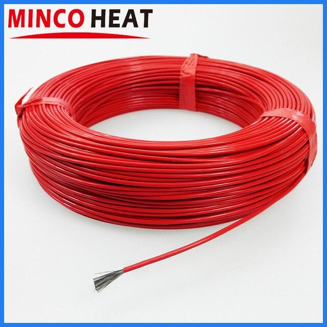 Cable calefactor de fibra de carbono infrarroja, calentador revestido de caucho de silicona o fluoropolímero de 36K y 48K