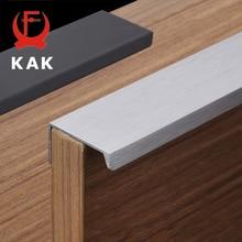 KAK Черный Серебряный скрытые ручки шкафа цинковый сплав кухонный шкаф ручки для выдвижных ящиков двери спальни Оборудование Для Обработки мебели