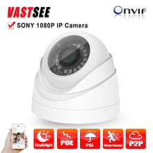 2.0MP IP camera Full HD1080P POE ONVIF 2.0MP indoor Plastic dome Securiy CCTV  Support Phone Android IOS camaras de seguridad
