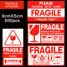 Fragile Sticker 500pcs/lot Handle With Care Fragile Stickers 9cmX5cm Express Warning Sticker fragile things a