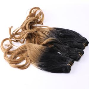 Image 4 - REYNA Sew in hair Ombre two tone Wavy synthetic hair extension weave 100% heat resistant Hair bundle