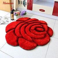 3D Rond rose tapis Salon Oriental Coloré mat Vintage pour Filles/Femmes/Dames Polyester Beau Plancher tapis roses
