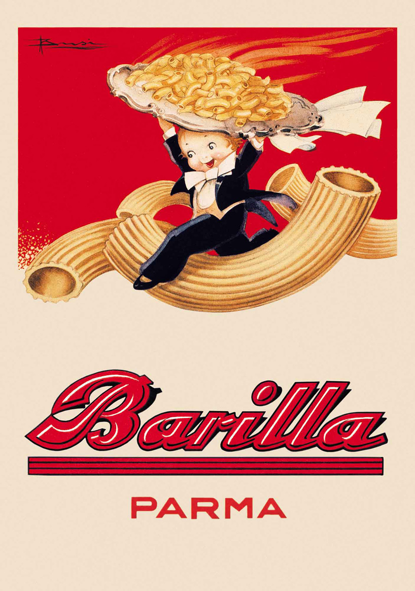 Vintage Food Advertising Poster Barilla Parma Classic Kraft Posters Canvas Painting Bathroom Wall Sticker Home Decoration Gift In Stickers From