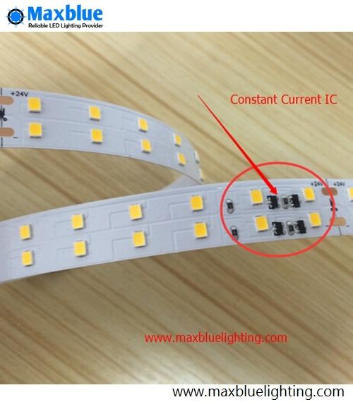 Lumière de bande de LED à courant Constant de 5 M DC24V SMD2835, 140 LED s/m avec le câble Non-LED étanche d'ic de courant Constant. Ruban Ruban