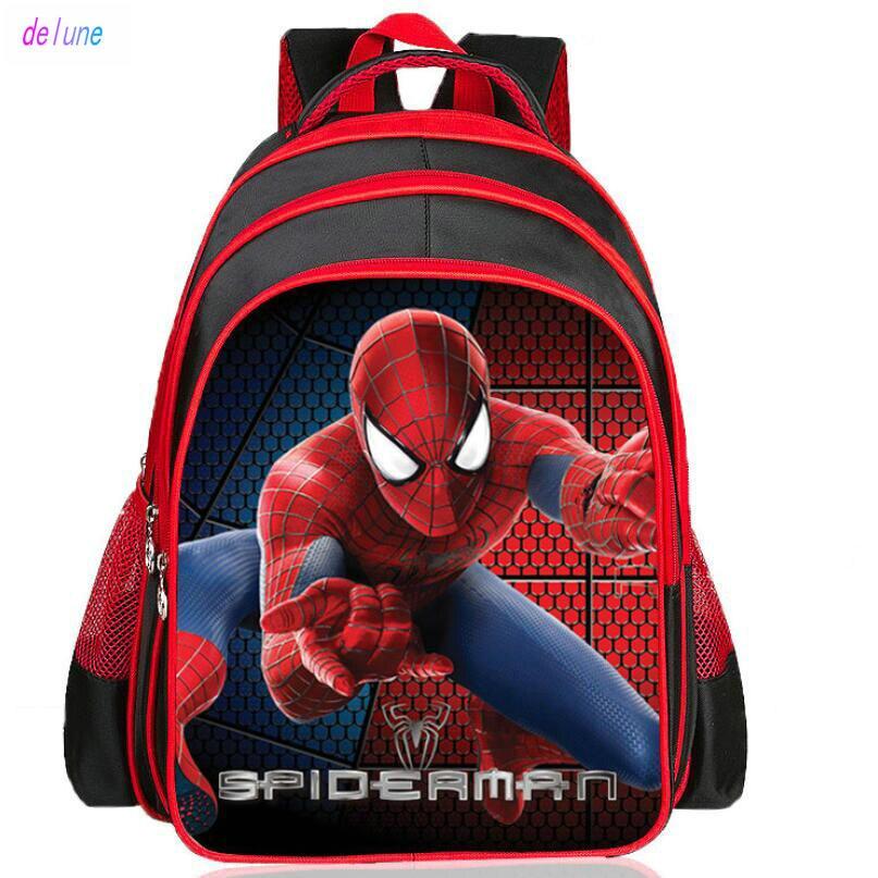 Children Spiderman School Bags 2019 New Cartoon Spider Man Printing Schoolbags Kids Backpack For Girls&boys,mochila Infantil