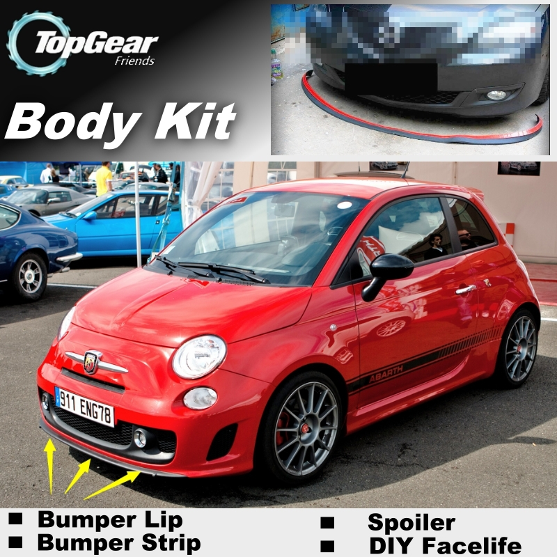bumper lip deflector lips for fiat abarth 500 500c front. Black Bedroom Furniture Sets. Home Design Ideas