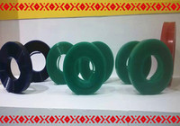 Fast Shipping Green 50mm 9mm 400mm Screen Printing Flat Squeegee Rubber Blade 75A Durometer