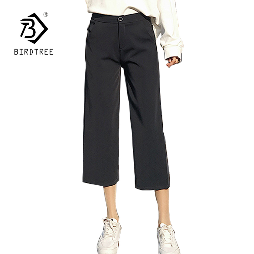 Women's Clothing Womens Solid Wide Leg High Waist Pants 2018 New Arrival Spring S-4xl Plus Size Casual Female Loose Pants Hots Sales B84404f
