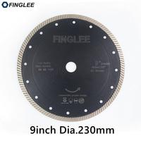 1Pc 9inch/230mm Diamond Hot Pressed Superthin Diamond Turbo Blade Hard Material Ceramic/Tile Granite Cutting Disc Diamond blade