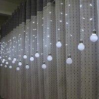 Feimefeiyou 5M 216 LED Bulb Light String Romantic Fairy Lights String Curtain Lights For Holiday Wedding Party Curtain Decora