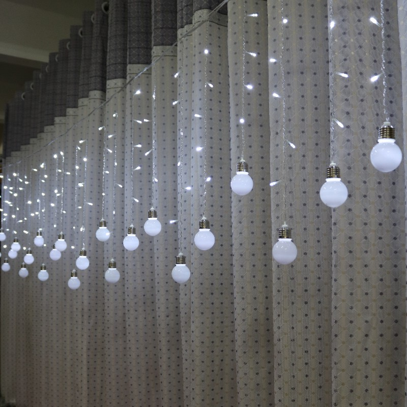 Feimefeiyou <font><b>5M</b></font> <font><b>216</b></font> <font><b>LED</b></font> Bulb Light String Romantic Fairy Lights String Curtain Lights For Holiday Wedding Party Curtain Decora image