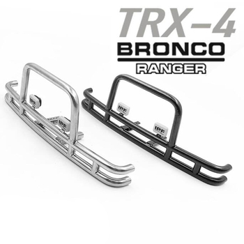 1/10 rc crawler model car upgrade parts metal front bumper for 1:10 scale traxxas trx4 bronco ranger remote control truck