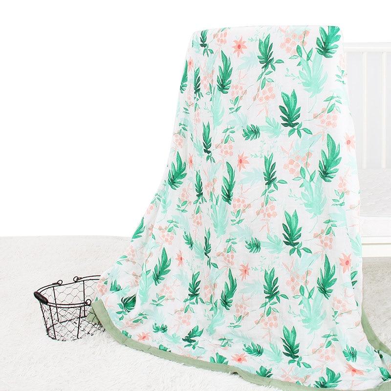 Baby Blanket 2 Layer Bamboo Cotton Newborn Swaddle Soft Bedding Baby Swaddling Bedding