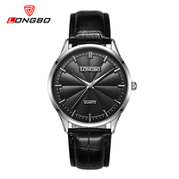 Longbo Luxury Brand Simple Watch Fashion Lover S Watches Men Women Leather Wristwatch Gold Clock Luxury