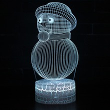 Snowman Xmas Series Christmas Decorations Home Party 3D Lamp 7 Colors Change LED Night Light Luminaria Christmas&New Year Gifts