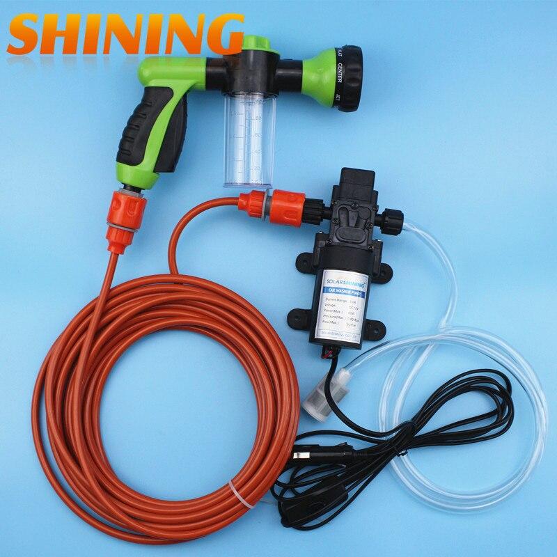 Car Cleaning Device 12v 60w High Pressure Water Pump Foam