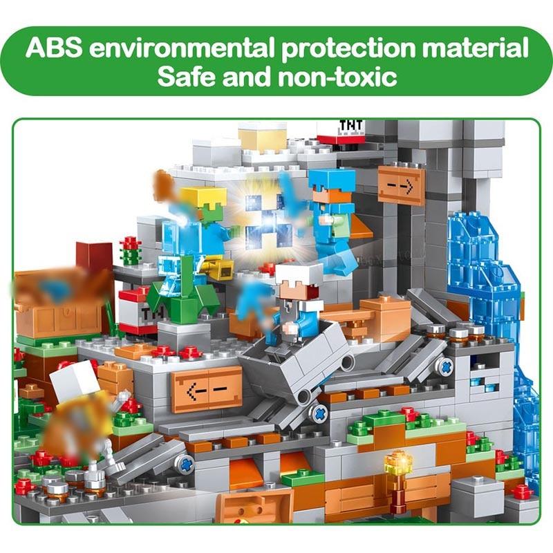 Mon Monde Mécanisme Grotte blocs de construction Compatible LegoING Minecrafted Aminal Alex figurines d'action jouets briques Pour Enfants - 4