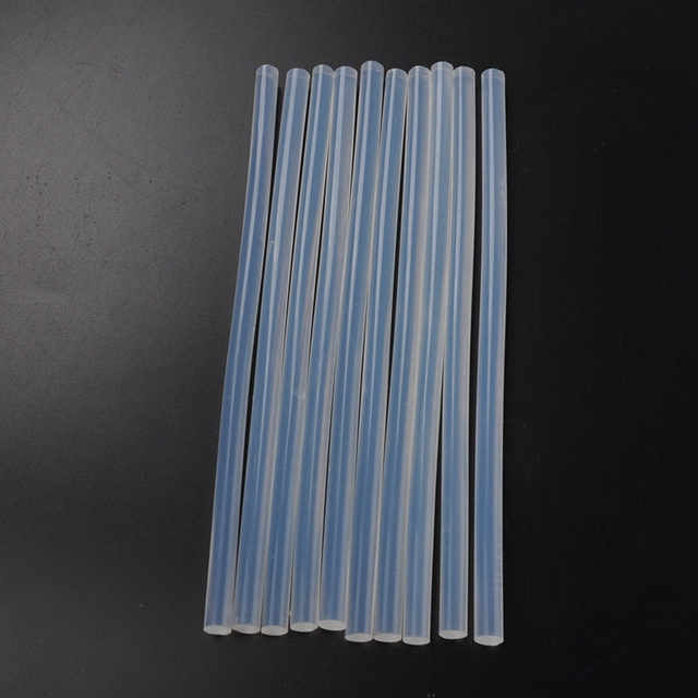 10 pcs 7mmx190mm Clear Glue Adhesive Sticks For Hot Melt Gun Car Audio Craft transparent For Alloy Accessories
