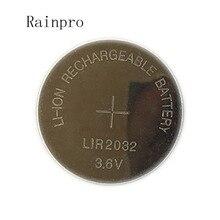 5 ชิ้น/ล็อต LIR2032 แบตเตอรี่แบตเตอรี่ลิเธียม 2032 ชาร์จแบตเตอรี่ปุ่มเปลี่ยน CR2032 สำหรับนาฬิกา
