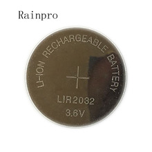 5PCS/LOT LIR2032 Coin Cell Battery 2032  Lithium charging button battery Can Replace CR2032 for watches