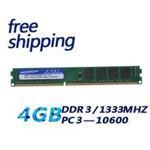 Kembona фабрики Фирменная Новинка Desktop DDR3 4 ГБ 1333 PC10600 RAM memoria Двусторонняя 16 чипы, совместимые с Intel и -m-d